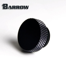 2pcs Barrow hand tighten black brass sealing lock end plug thread G1/4'' computer water cooling system use. TDS-01(China)