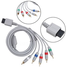 New 1.8m 6FT 1080P Component Cable HDTV Audio Video AV 5RCA Cable for Nintendo Wii Game cable(China)