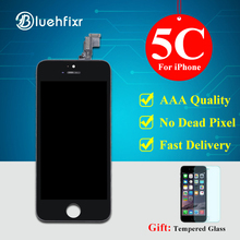 Bluehfixr AAA Quality LCD For iPhone 5C Screen Black For iPhone 5C LCD Display Touch Screen Digitizer Assembly Free Shipping(China)