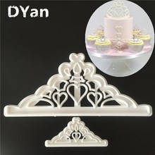 2PCS/SET Tiara/Crown Plastic Cake Decoration Sugarcraft Tool Cake Tool Fondant Cake   Mold A1277