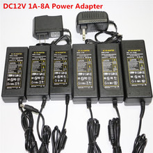 1Pcs AC100-240V to DC12V 1A 2A 3A 4A 5A 6A 7A 8A Lighting Transformer Switch Supply Power Adapter Charger for Strip Phone Laptop