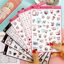 6 Pcs/Set Benny's Life Transparent Diary Deco Sticker Post It Note Kawaii Stickers Sticky Notes Decoration Label(China)