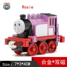 New Diecast Metal Thomas and Friends Train One Piece ROSIE Magnetic Train Toy The Tank Engine Trackmaster Toys For Children Kids