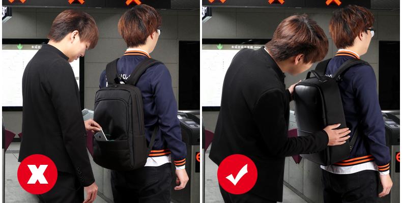 Color : Black AXWT Yilong Men Backpack Four Seasons Laptop Backpack USB Charging Waterproof Mens Backpacks Large Capacity School Bag Women Travel Bag for Teenager