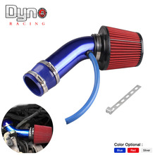Universal 76mm and 160mm height Cold Air Intake Air Filter+3inch/76mm Aluminum car Air Intake Pipe Pipes Kit N-AF001-76+TP042(China)