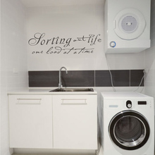 "Laundry Room Wall Decal - Sorting Out Life one load at a time - Vinyl Wall Sticker Art Home Decor 22"" x 7"" XS"
