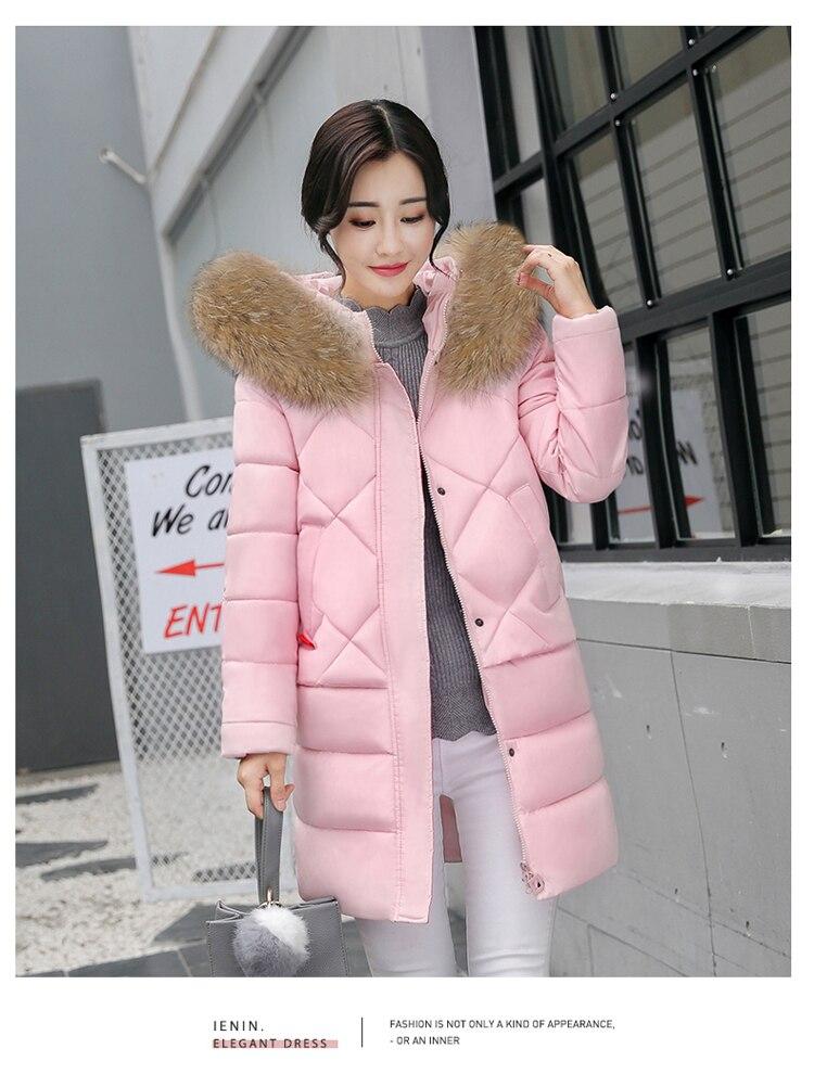 High quality winter jacket coat warm Long women parka Artificial false fur collar women Winter coat slim Female jacket Plus SizÎäåæäà è àêñåññóàðû<br><br>