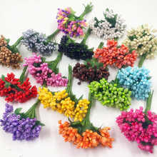 12PCS/ artificial bud blackberry berries of flowers wedding decoration DIY clip decorative wreaths bouquets of flowers(China)