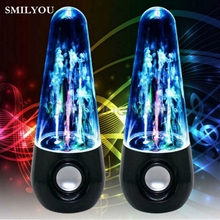 SMILYOU new Hot item Dancing Water Speakers LED Speakers Water Fountain Speakers Mini Misic Amplifier Speaker Stereo(China)