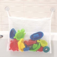 1Pcs New Arrival Storage Mesh Bags Strong Sucker Baby Shower Children Bathe Bathing Toys Storage Pouch(China)