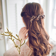 Boho Style Gold Plating Branch Hair Clip Barrettes Girls Women Lovely Hair Accessary Gift Hairpin Hair Jewelry(China)
