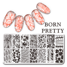 Leaf Design Rectangle Nail Art Stamp Template BORN PRETTY 12*6cm Stamping Image Plate  BP-L047