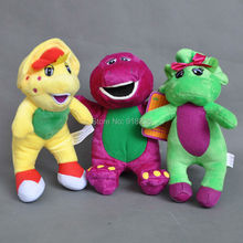"Free Shipping 3 Styles Cute 7"" Barney and Friend Baby Bop BJ Plush Doll(China)"