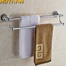 "(24"",60cm)Double Towel Bar With Ceramic Chrome Finish/Towel Holder,Towel Rack,Bathroom Accessories Free Shipping YT-11898"