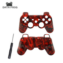 High Quality Custom Red Camo Hydro Dipped Replacement Housing Front shell and Back Shell case for PS3  Console
