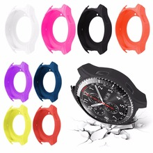 Durable Smartwatch Silicone Protect Case Frame Cover Band Strap Wristband For Samsung Gear S3 Classic / Frontier Smart Watch(China)