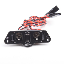 F16806/07 6STARHOBBY Heavy Duty Metal Dual Power Switch with Dual Fuel Dots TX for RC Helicopter