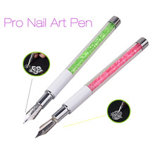 New Nal Art Pen With 5 Dotting Heads Rhinestone Nail Painting Drawing Line Salon Nail Beauty Decoration Tools 2017 New Hot Sale(China)