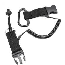 Scuba Diving Lanyard Rope with Clips and Quick Release Buckle For Underwater Dive Snappy Coil Spring Camera torch hookup Kit