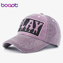 [boapt] gold wire line print letter women's hats summer sun hip hop brand baseball cap female snapback caps casual hat(China)