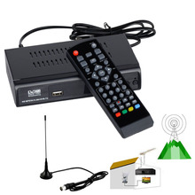 Digital Terrestrial Convertor FTA DVB-T2 DVB-T HD Set Top Box Receiver With USB PVR Recorder EPG Playback + VHF UHF Antenna