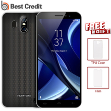"Homtom S16 Dual back lens Smartphone Android 7.0 5.5"" HD 2GB 16GB MT6580 Quad Core Mobile Phone Unlocked Cell Phone Fingerprint(China)"