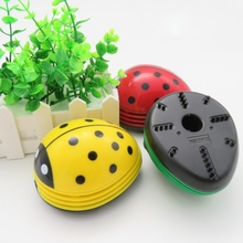 Office Desktop Cleaner Mini Ladybug Desktop Coffee Table Vacuum Cleaner Dust Collector for Home Office(China)