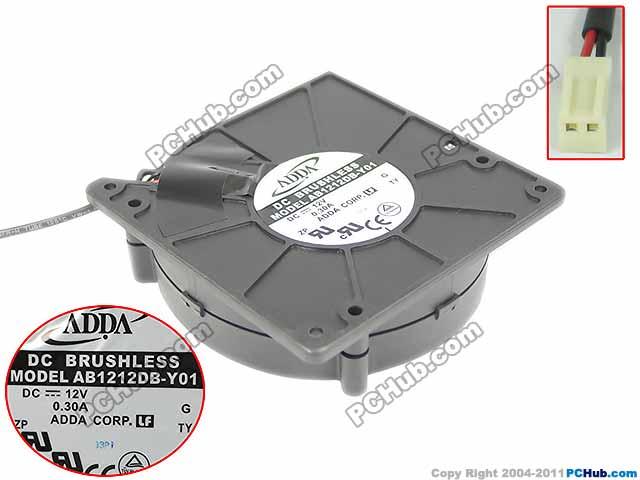 ADDA AB1212DB-Y01 Server Blower Fan DC 12V 0.30A 120x120x32mm 2-wire<br>
