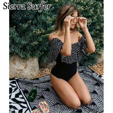 Buy Swimming Suit Women Plus Size Swimwear Womens Swim Wear One-Piece Swimsuit New Stripes Color Sexy Mayo Maio Costume De Bain