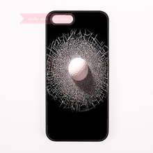 black white golf ball Split screen print Hard Back Cover Phone Case For iphone 4 4s 5 5s 5c 6 6S plus 7 7 Plus case abstract art(China)