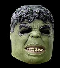 Head Rubber Latex Mask Cartoon Hulk Mask Hood for Carnival and Party Halloween Adult Size D-1791