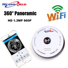 HD 360 Degree 3D VR IP Camera WIFI Panorama View 960P 1.3MP Mini Security Camera Wireless Surveillance Camcorder CCTV Monitor IR