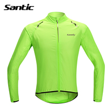Santic Waterproof Cycling Jersey Long Sleeve Maillot Ropa Ciclismo Windproof Bicycle Clothing MTB Bike Jersey Cycle Raincoat(China)