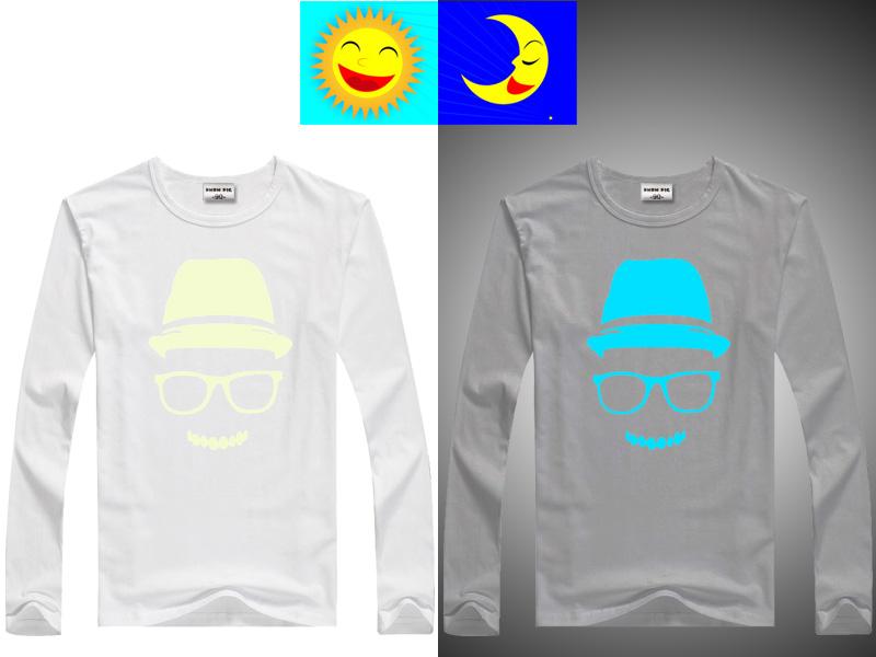 DMDM PIG Luminous T-Shirts For Girls Boys Long Sleeves Tops Kids Clothes Baby TShirt Children Toddler T Shirt 10 11 13 14 Years 9