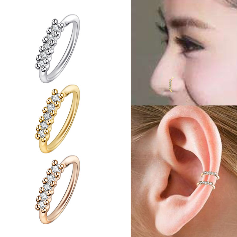 8mm Ball Nose Ring Lip Ear Body Piercing Jewelry Coloured Open