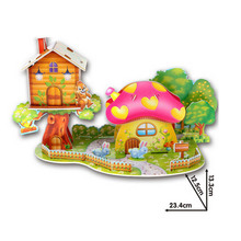 3D Puzzle Jigsaw Baby Toy DIY Kids Early Learning Castle Construction Pattern Gift For Children Educational Toys Houses Puzzles