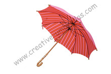 Mix order allowed straight nature bamboo umbrellas,double layers,hand open for Spain Market,High-grade umbrella choice(China)