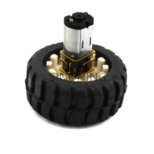 2pc N20 micro reducer motor with wheel 5V 6V 3V DC metal gear(China)