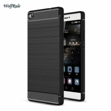 For Case Huawei P8 Lite Cover Anti-knock TPU Brushed Business Mobile Funda Coque Capa Phone Case For Huawei P8 Lite case <[