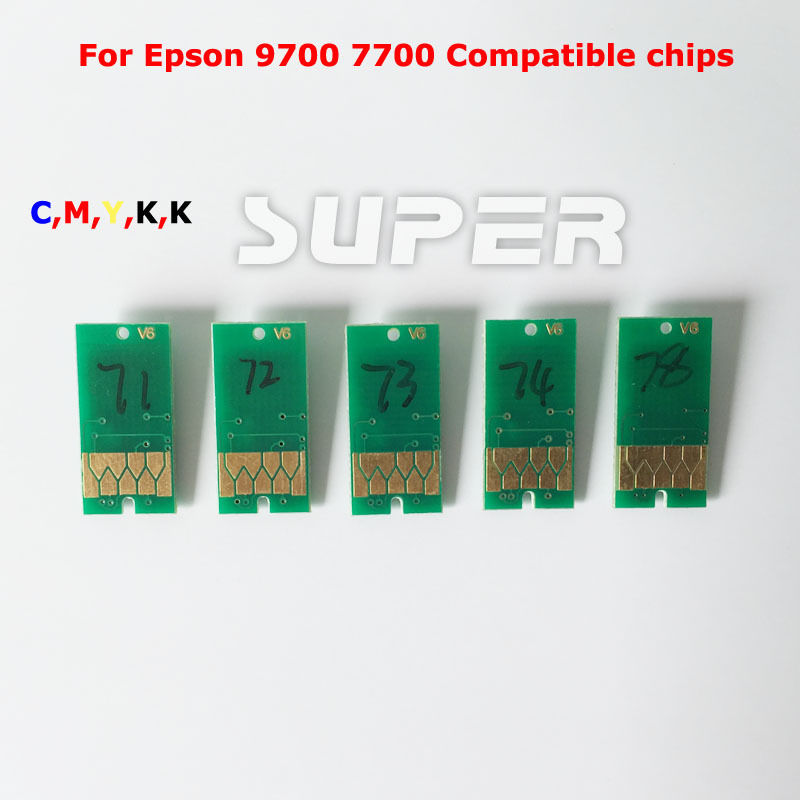 5 PCS for EPSON 7700 9700 Compatible Chips T6361-T6364 T6368 Resettable Chips<br><br>Aliexpress