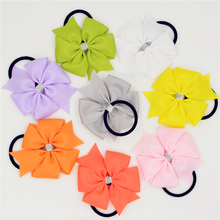 1pc Elastic Hair Bands Solid Color PonyTail Holder Hair Bow Headband Hairband for Newborn Hair Accessories(China)