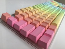 Side Print 104 key ANSI layout Rainbow Thick PBT Keycap For OEM Cherry MX Switches Mechanical Gaming Keyboard