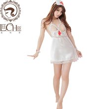 Buy Leechee Hot women sexy lingerie perspective lenceria sexy cosplay nurse uniforms erotic underwear porn nurses costumesXT002