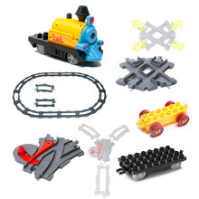 Funny Train Blocks Accessories Train Coach Track Railway Assembling Parts Kids DIY Toys