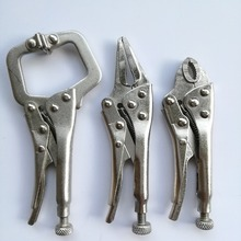 3 Piece Mini Vice Grip Kit Complete Locking C Clamp Straight Nose and Needle Nose Plier set(China)