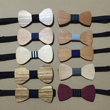 Hot Sale European Fashion wooden bowtie  Elegant Good Wood Bow Tie For Men Butterfly Neck Tie(without boxes)