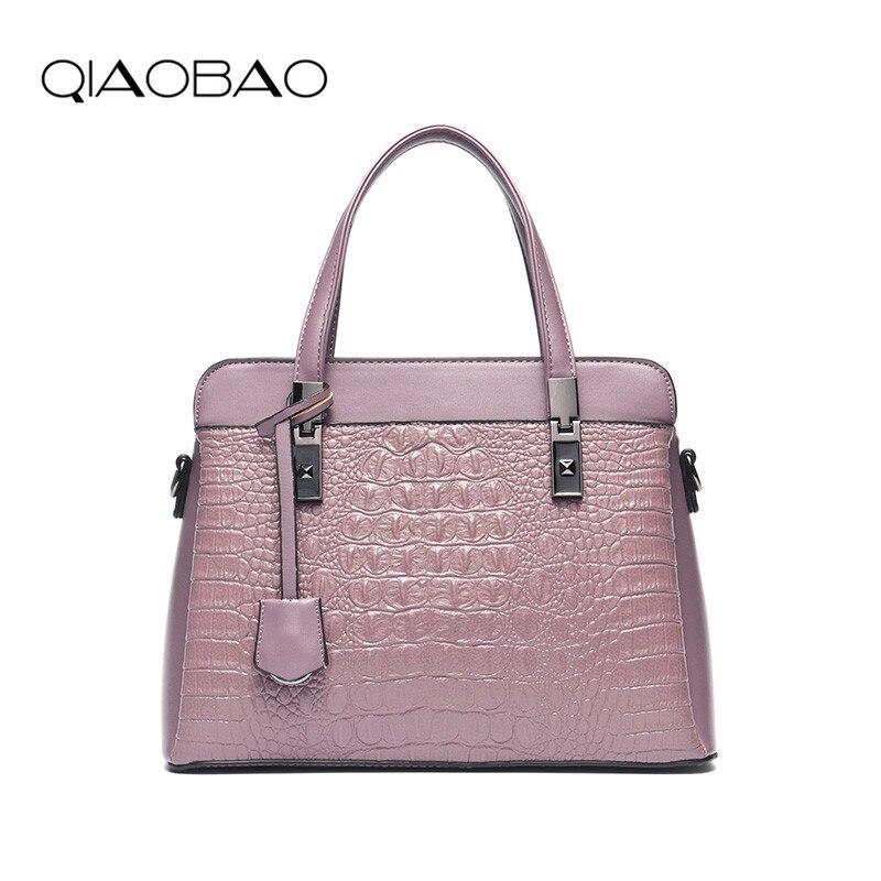 QIAOBAO Women Bag Female Shoulder Bag Handbags Women Famous brands Genuine Leather Bag Ladies Crossbody Messenger Bags Crocodile<br>
