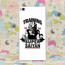 1044HJ Training To Go Super Saiyan Dragon Ball Z Hard Case Cover for Huawei P6 P7 P8 P9 Lite Plus Honor 6 7 4C 4X G7