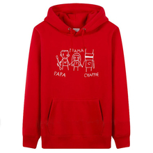PAPA CHAPPIE Men Womens Plain Hooded fleece thick Hoodies&Sweatshirts plus velvet loose plus size Black Red Winter hooded Jacket(China)