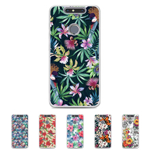 "For ZTE Blade V8 Mini 5.0 "" Solf TPU Silicone Flower Case Mobile Phone Cover Bag Cellphone Housing Shell Skin Mask DIY Customize(China)"